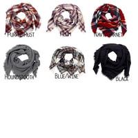 CUSTOM Monogram Blanket Scarf -- Multiple ways to wear it, Great gift, Perfect for Fall!