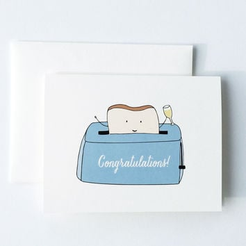 A Toast To You Congratulations Card
