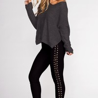 Lace Do It Right Pants - Black