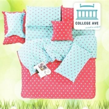 Vibrant Dot Twin XL Comforter Set - College Ave Designer Series Best Cotton Comforters College Items