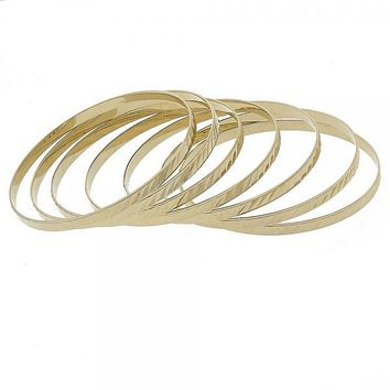 Gold Layered Semanario Bangle, Golden Tone
