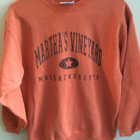 vintage martha's vineyard massachusetts crew neck sweater