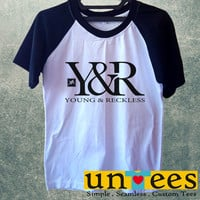 Young and Reckless Short Raglan Sleeves T-shirt