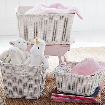 Simply White Sabrina Basket Collection