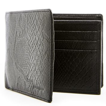 Genuine Leather Bifold Wallet With Flap & ID Slot