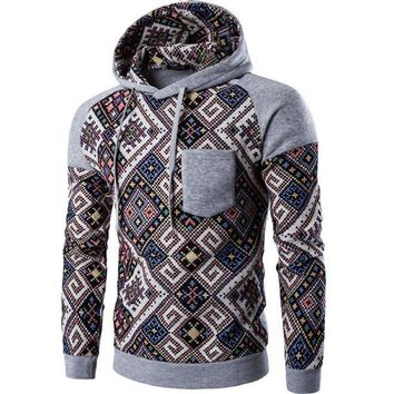 Quilt Pullover Hoodie