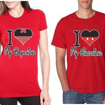 I Love My Boyfriend Love My Girlfriend  Couples T-Shirt