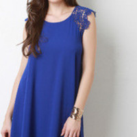 Mini Lace Short Sleeve Dress