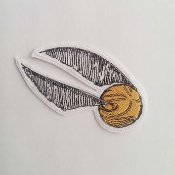 "Harry Potter ""Golden Snitch"" Embroidery Patch"