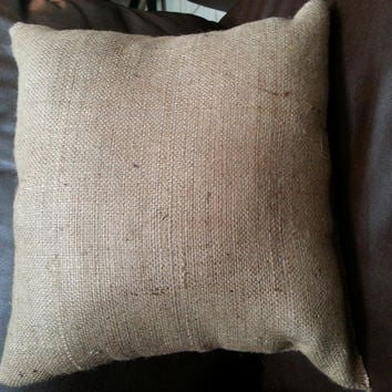 Burlap Throw Pillow - Decorative Pillow, Accent Pillow, Rustic Throw Pillow, Burlap Pillow, Rustic Pillow