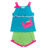 Emily Rose Girls' Pink Crab Shorts Set - Sam's Club