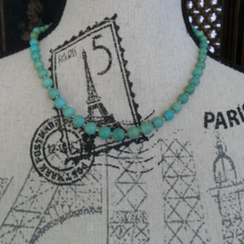 Summer Vintage Genuine Turquoise Necklace Beach Chic Gypsy Boho Chic