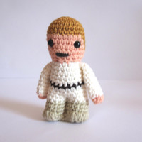 Luke Skywalker inspired amigurumi. Star wars crochet softy. Crocheted plush.