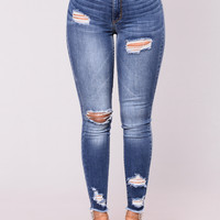Eleanor Rough Skinny Jean - Medium