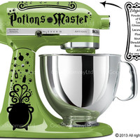 Potions Master Decal Kit for your Kitchenaid Stand Mixer - Harry Potter Inspired with Polyjuice Potion Recipe