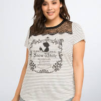 Disney Snow White Collection Striped Lace Inset Tee