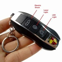 Porsche Electric Car Remote Control Shock Keychain Prank Funny Toy