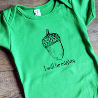 I Will Be Mighty Baby Onesuit Bodysuit
