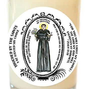 St Nicholas of Tolentino for Sick Animals & Crossing Over 8 Oz Scented Soy Candle