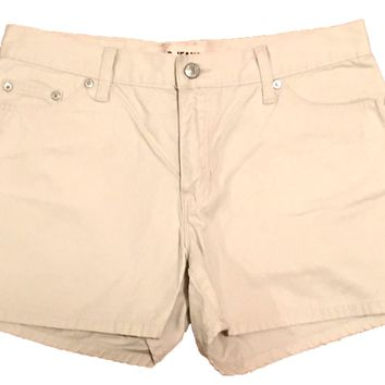 "Gap Jeans Beige Khaki Shorts Cotton Womens 6 Actual Measurement: 31"" W x 12"" L - Preowned"