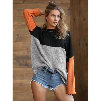 Color Block Longline Jumper