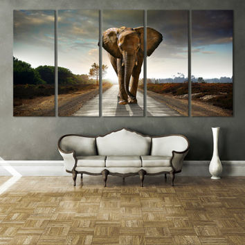 Elephant Wall Art Print / Elephant Art Décor / Extra Large Wall Art Elephant Wall Décor Large Artwork Wildlife Wall Art Giclee Print