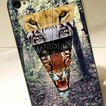 Tiger eyes Design - for iPhone 4/4S case iPhone 5 case Samsung Galaxy S2/S3/S4 case hard case