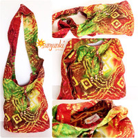 Hippy Satchel, Hobo Bag, School Bag, Shoulder Bag, Purse, Beach Bag, Diaper Bag, Hippie, Gypsy, Travel, Tie Dye Bag