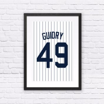 Ron Guidry Number 49 Jersey