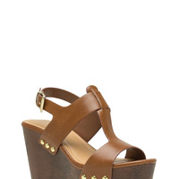 Me Myself And I-Strap Studded Wedges GoJane.com
