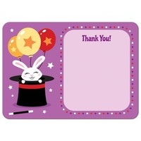 Rabbit in magicians hat flat thank you note card
