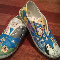 Adventure Time Made To Order Hand Painted Custom Canvas Shoes *ANY CHARACTERS!* ~ glittercorpse