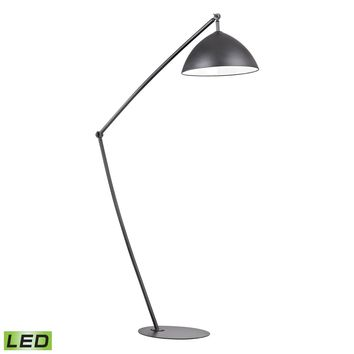 Industrial Elements Adjustable LED Floor Lamp in Matte Black Matte Black