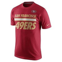 San Francisco 49ers T-Shirt Men's Nike NFL Team Stripe Big Logo Tee Red