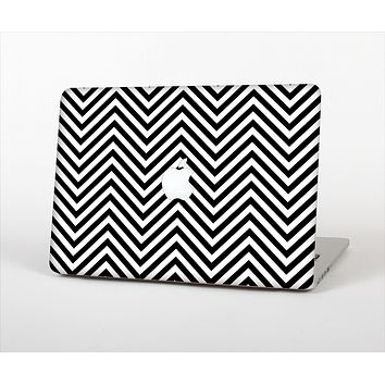The Black & White Sharp Chevron Pattern Skin Set for the Apple MacBook Air 13""