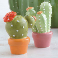 Cactus Flower Salt & Pepper Set - Kitchen - Home