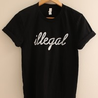 Illegal Black Graphic Top