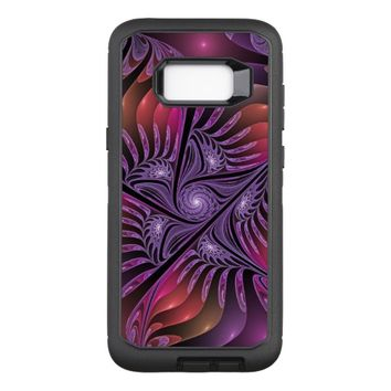 Colorful Fantasy Abstract Modern Purple Fractal OtterBox Defender Samsung Galaxy S8+ Case