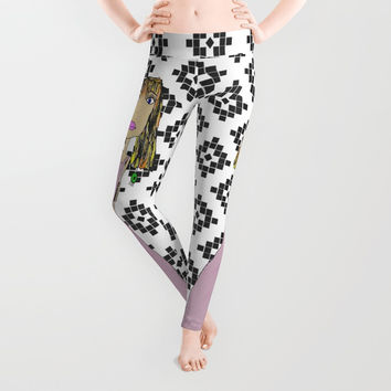 Pink Lady from Casablanca Leggings by Azima