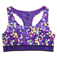 CONFETTI DOT SPORTS BRA | GIRLS BORN TO BE FIERCE ACTIVE THE COLLECTIONS | SHOP JUSTICE