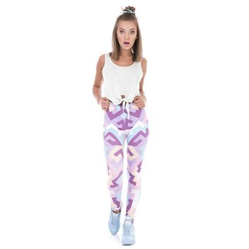 Geometric Pink Camo Leggings