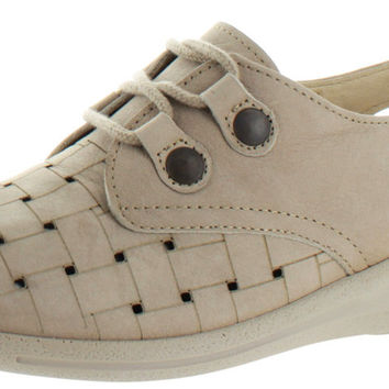 Sanita Fortune Womens Lasercut Leather Casual Shoes