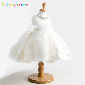 0-24Months/Summer Newborn Baby Girl Christening Gowns 1st Birthday Princess Party Tutu White Wedding Dress Infant Dresses BC1001