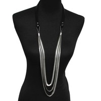 New Design High Quality Women Accessories Fashion Leather Chokers Snake Chain Pendants Casual Long Necklaces Statement Jewelry