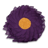 Round Marcia Sunflower Pillow