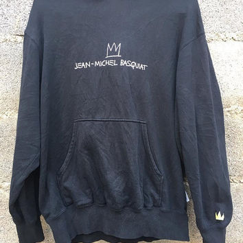 Vintage Jean michel basquiat Hoodie Recorded In New York