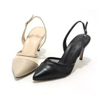 Buy MODELSIS Genuine Leather Sling-Back Pumps | YesStyle