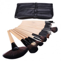 Professional 24pcs Makeup Brushes Eyebrow Tool Set Eyeshadow Brush Cosmetic Kit Bag