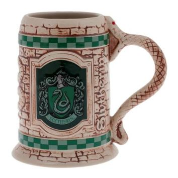 Wizarding World Of Harry Potter Slytherin Sculpted Ceramic Stein Mug Universal