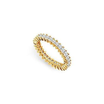 Diamond Eternity Band : 14K Yellow Gold - 2.50 CT Diamonds